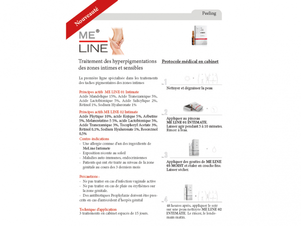Brochures Me-Line / Intimate - Pack de 15