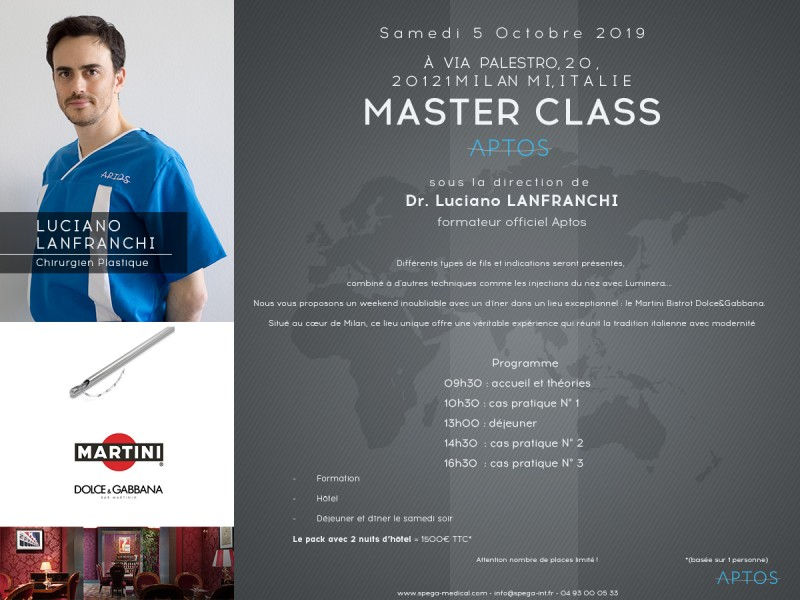 APTOS Master Class October 5 in Milan