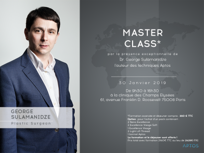 MASTER CLASS APTOS : Formation Advanced - 30 janvier 2019